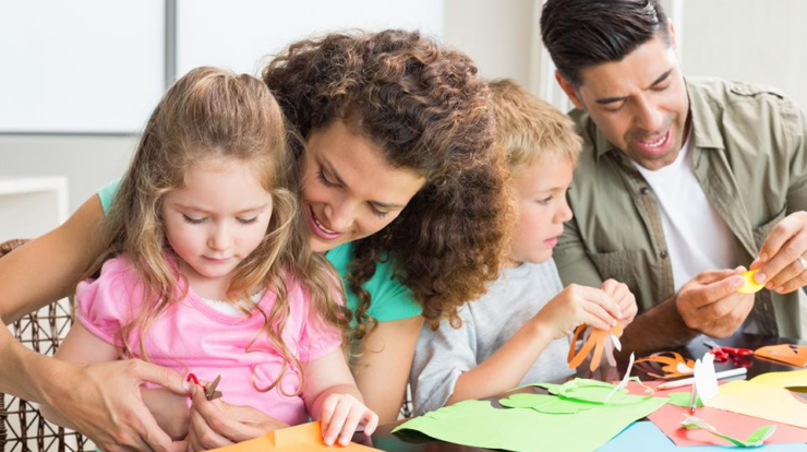How do parents spending time with kids help in their development?